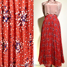Red pleated 70s skirt, Europe | S