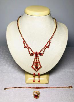 Swarovski Crystal 60s Necktie Set