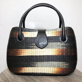 Basket Wicker Handbag, 80s