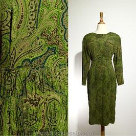 Damozel Paisley 70s dress, Japan | S
