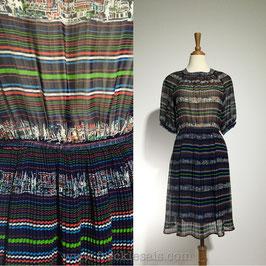 Rainbow House 70s dress, Japan | S