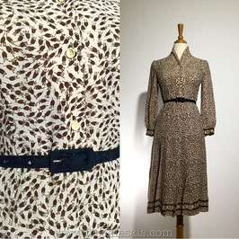 Cream Tweed 60s dress, Japan | S