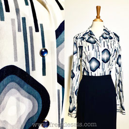 Rhombus 70s shirt blouse, USA | M-L