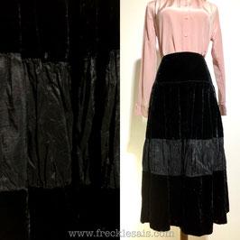 Black Velvet 70s skirt, France | S