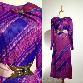 Classic Purplink 70s dress, Europe   L