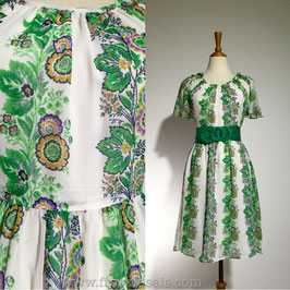 Forest Green 60s dress, Japan | S