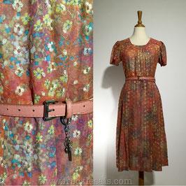 Summer Floral 60s dress, Japan | M