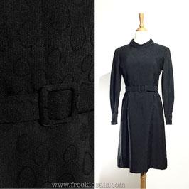 Black Droplets 50s dress, Japan | S
