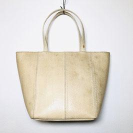 White Snakeskin leather 80s Handbag