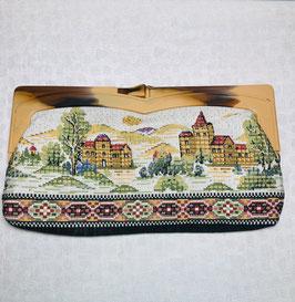Novelty 70s tapestry vintage Clutch bag, Europe