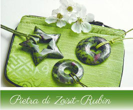 La Farfalla - Pietra di Zoisit Rubin für den Mann