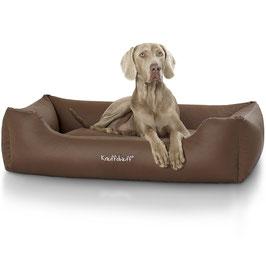 Knuffelwuff Leder Hundebett Sidney Größe M-XXXL braun