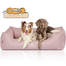Knuffelwuff Orthopädisches Hundebett Luisa Sunshine-Edition rosa