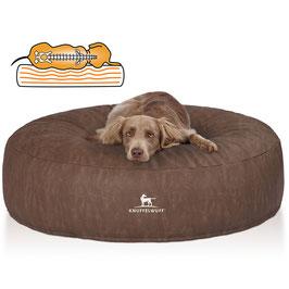 Knuffelwuff Orthopädisches Hundebett Little Mountain aus Kunstleder Braun