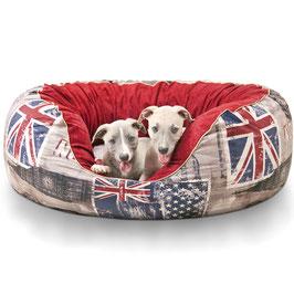 Knuffelwuff Hundebett Alidho UK-Style Größe L-XXL