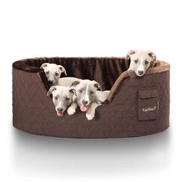 Knuffelwuff Hundebett Henry aus 5cm Schaumstoff Größe M-XXXL braun