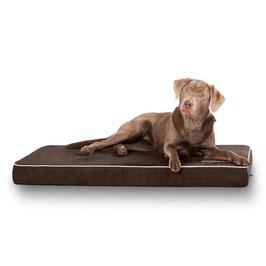 Knuffelwuff Hundematte Maui aus 9cm Schaumstoff Braun XXL