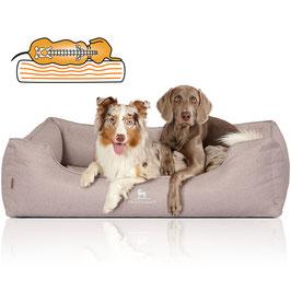 Knuffelwuff Orthopädisches Hundebett Luisa Sunshine-Edition beige