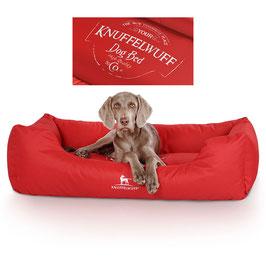Knuffelwuff wasserfestes bedrucktes Hundebett Ryan Größe L-XXXL Rot