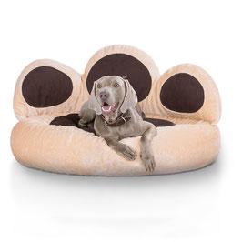 Knuffelwuff Pfoten Hundebett Luena Größe S-XXL Beige