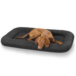Knuffelwuff Leder Hundebett Jerry schwarz Eckig Größe XL-XXXL