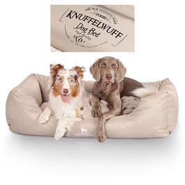 Knuffelwuff wasserfestes bedrucktes Hundebett Ryan Größe L-XXXL Beige