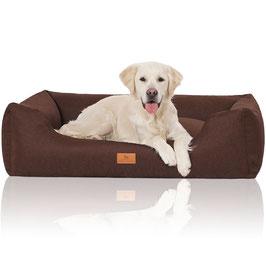 Knuffelwuff Hundebett Lotte braun Größe M-XXL