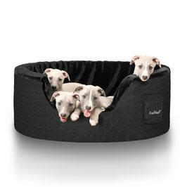 Knuffelwuff Hundebett Henry aus 5cm Schaumstoff Größe M-XXXL schwarz