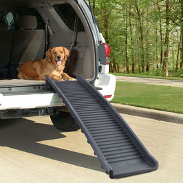 Auto PKW Hunderampe Einstieghilfe Anti Rutsch klappbar Schwarz 155x40cm 90Kg