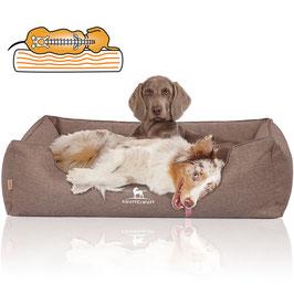 Knuffelwuff Orthopädisches Hundebett Wippo hellbraun Größe M-XXXL
