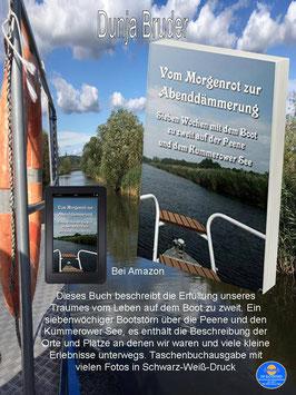 """NEUERSCHEINUNG unser Buch """"Vom Morgenrot zur Abenddämmerung - 7 Wochen mit dem Boot zu zweit auf der Peene und dem Kummerower See"""""""