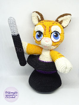 G'MIC Tigre GIMCKY magicien mascotte en coton au crochet