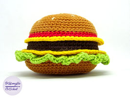 Hamburger amigurumi Burger Tech Podcast Logo en coton au crochet