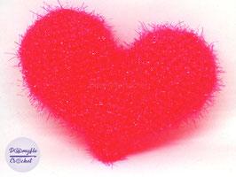 Eponge Tawashi cœur rose amour