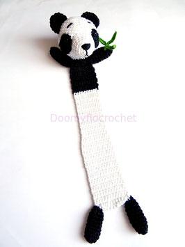 Marque pages Panda de Chine en coton au crochet