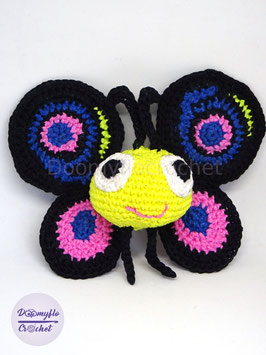 Papillon Perl6 amigurumi inspiré du logo; fan art informatique