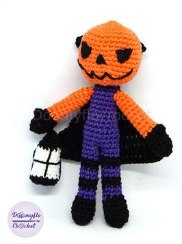 Jack O' Lantern Halloween poupée au crochet amigurumi fait main