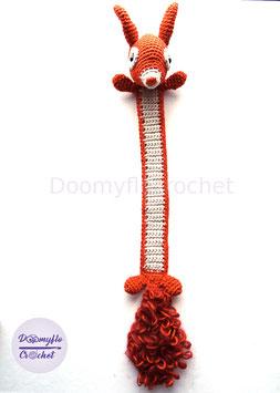 Marque pages écureuil roux en coton au crochet