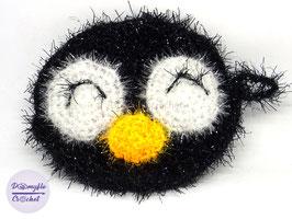 Eponge pingouin Tawashi au crochet pour bain ou vaisselle
