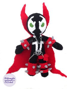 Spawn poupée textile en coton au crochet ; inspirée de superheros Todd McFarlane