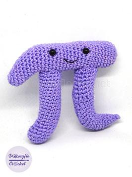 Nombre Pi mathématiques figurine en coton couleur lavande au crochet