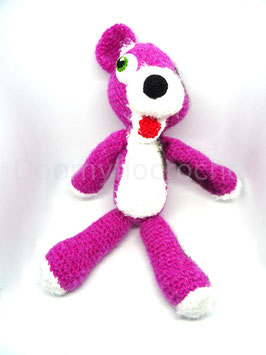 Peluche Nounours rose amigurumi de Breaking Bad au crochet