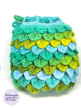 Sac à dés en forme d'œuf de dragon écailles au crochet fait main