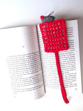 Marque pages tapette à mouche en coton au crochet