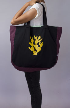 SHOPPING/BEACH BAG (negro)