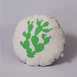 COJÍN REDONDO (verde-granate)