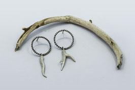 Pendientes circulares con rama