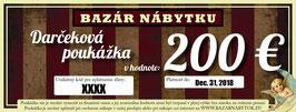 Darčeková poukážka - 200 EUR
