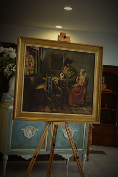 Obraz v drevenom ráme 83 x 93cm
