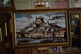 Obraz v drevenom ráme s podpisom autora 52 x 78cm